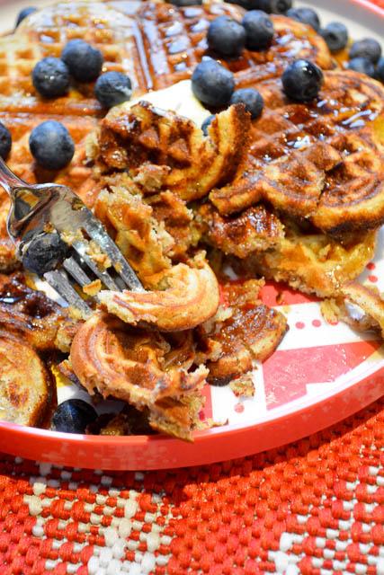 Gluten Free Banana Bread Waffles-3