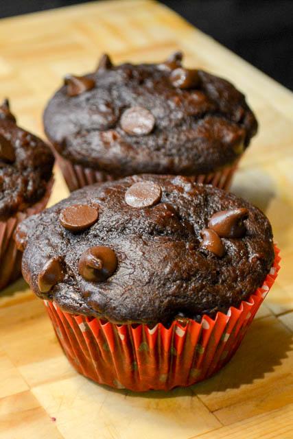 Double Chocolate Banana Muffins-2
