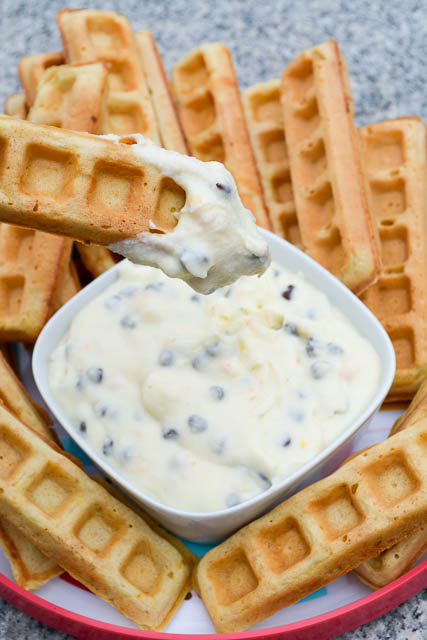 Waffle Sticks with a Cannoli Dip-5