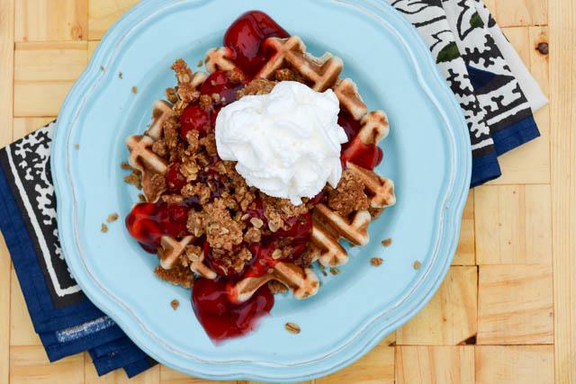 Cherry Crisp Waffles_3