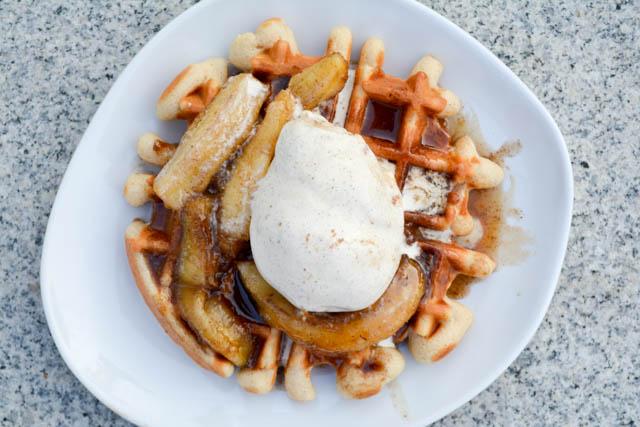 Banana's Foster Waffles-2