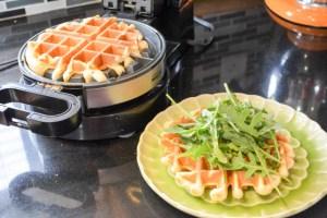 Buffalo Chicken Waffle Sandwich-10
