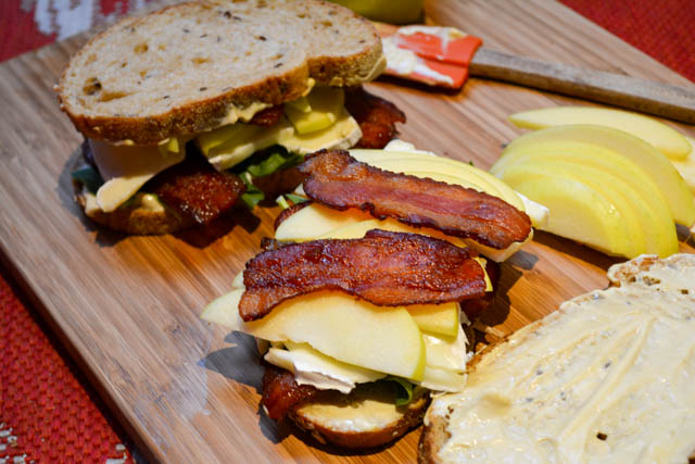 Bacon Apple Brie Spinach Sandwich-1