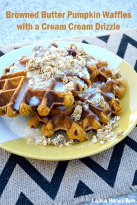 Browned Butter Pumpkin Waffles