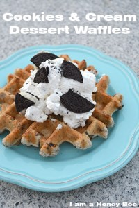 Cookies and Cream Dessert Waffles
