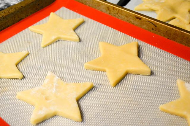 Crisp Lemony Star Cookies Krusteaz -9
