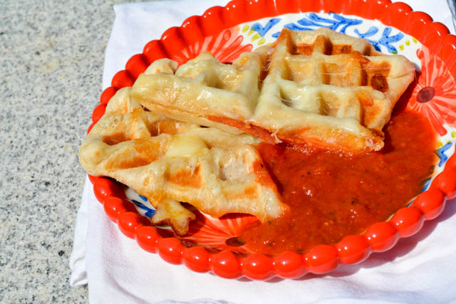 Pepperoni Pizza Pocket Waffles-4