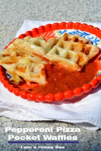 Pepperoni Pizza Pocket Waffles