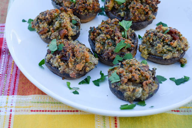 Bacon Stuffed Mushrooms-3