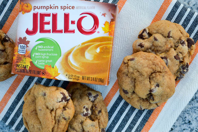 Pumpkin Pie Spice Chocolate Chip Pudding Cookies-3