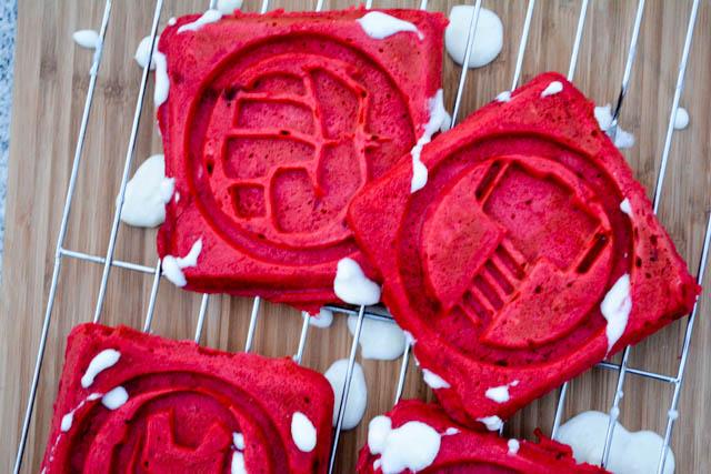 Red Velvet Waffles -3