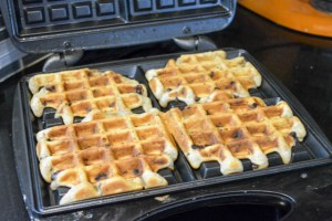 Chocolate Chip Cookie Waffles-10