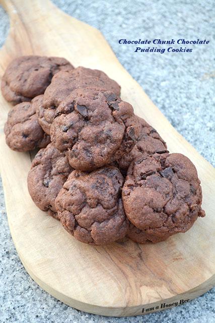 Chocolate Chunk Chocolate Pudding Cookies
