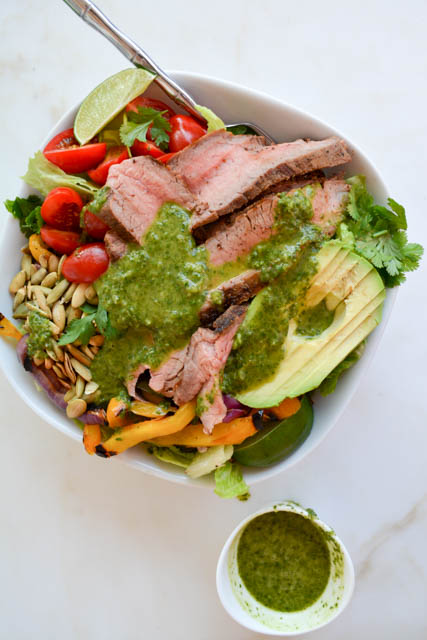 Grilled Steak Fajita Salad
