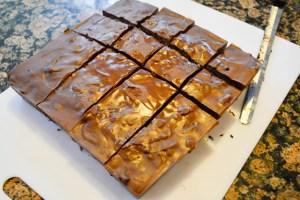 Oreo Crunch Brownies-16