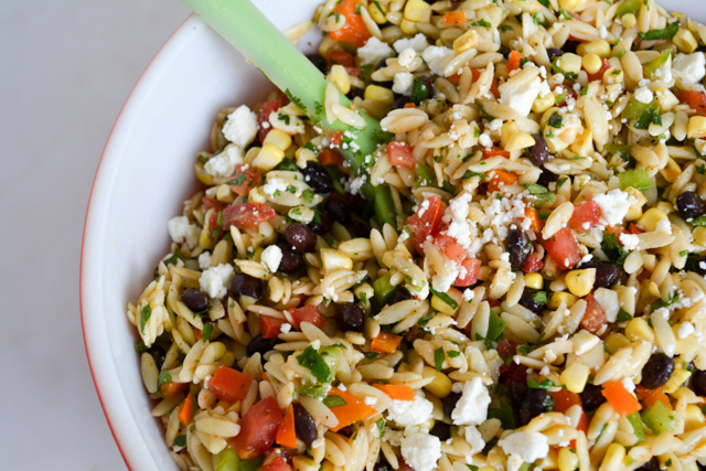 Southwest Orzo Salad with a Cilantro Lime Vinaigrette-1