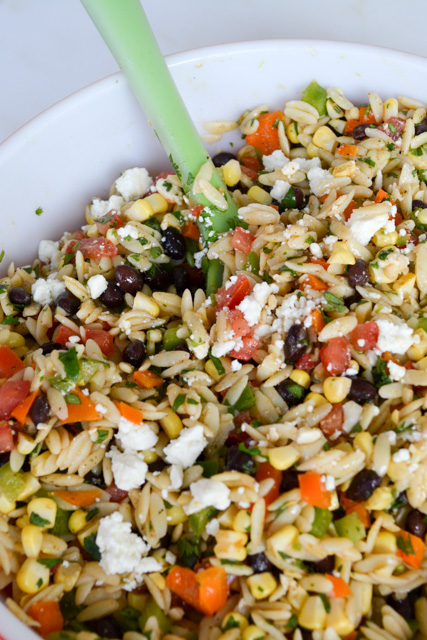 Southwest Orzo Salad with a Cilantro Lime Vinaigrette-2