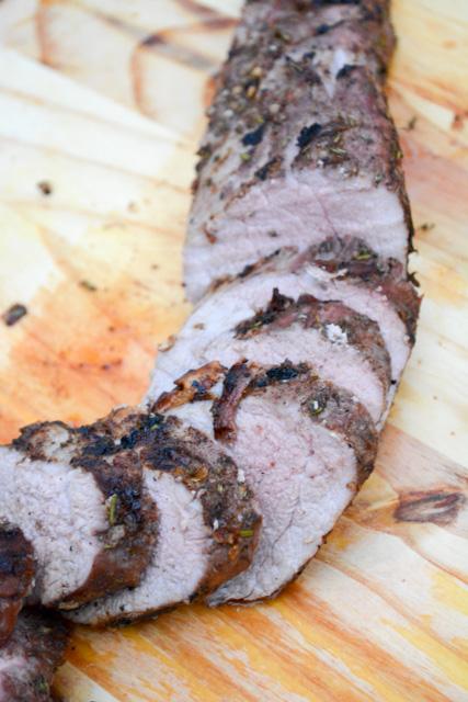 Pineapple Jerk Grilled Pork Tenderloin