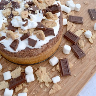 Instant Pot S'mores Chocolate Cheesecake