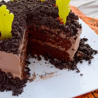 Super Spooky Graveyard Cake