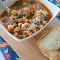 Chickpea and Spinach Soup