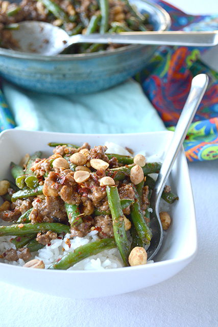 Chinese Bulletproof String Beans and Minced Pork