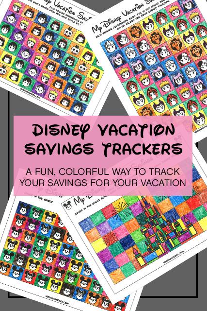 Disney Vacation Savings Trackers