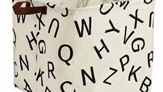 Large Storage Basket- Alphabet Print