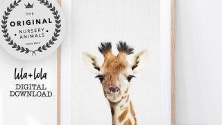Safari Nursery Giraffe Print- Digital Download