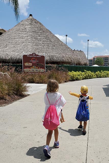 Kids walking on path at Westgate Resort