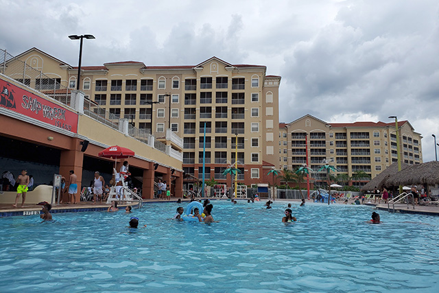 Large pool at Shipwreck Water Park at Westgate Resort