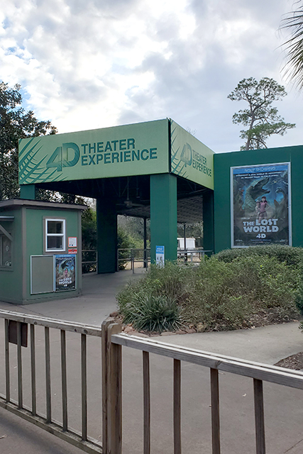 4D theater experience at Jacksonville Zoo