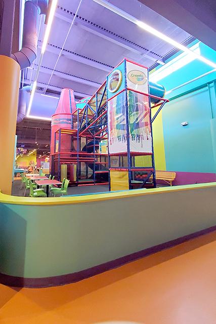 indoor jungle gym inside Crayola Experience in Orlando Florida