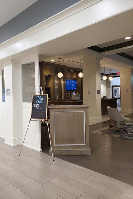 hotel bar inside Sheraton Hotel lobby in Jacksonville, FL