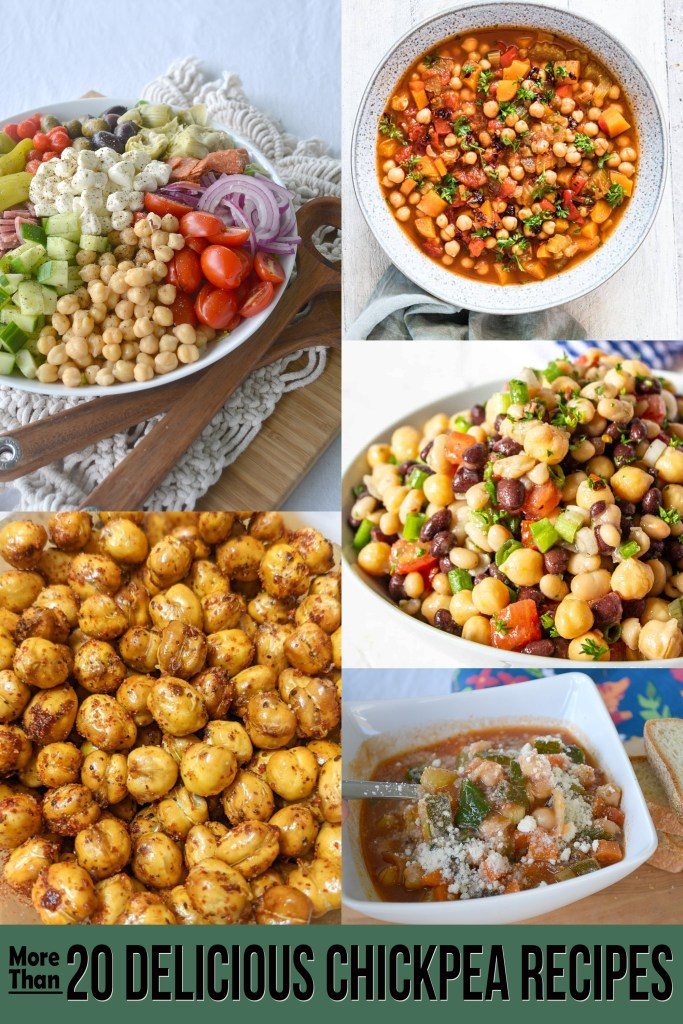 Collage of Chickpea based recipes.