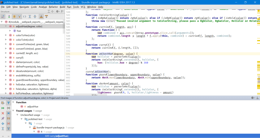 Screenshot of the editor