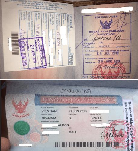 Visa Run Process in Vientiane Laos