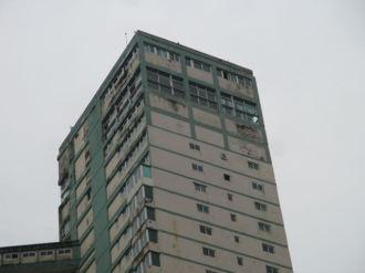 The buildings in Cuba are in serious disrepair. This one is in Havana
