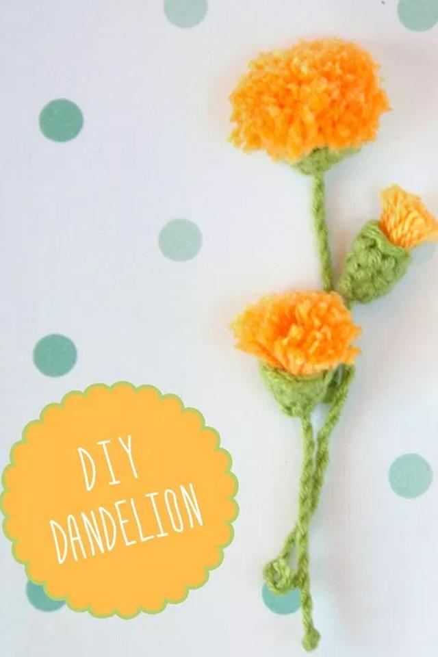 Como hacer una flor de diente de leon a ganchillo, visto en IamaMess blog