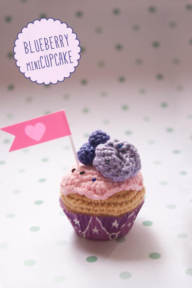 "Blueberry crochet mini cupcake By ""I am a Mess"""