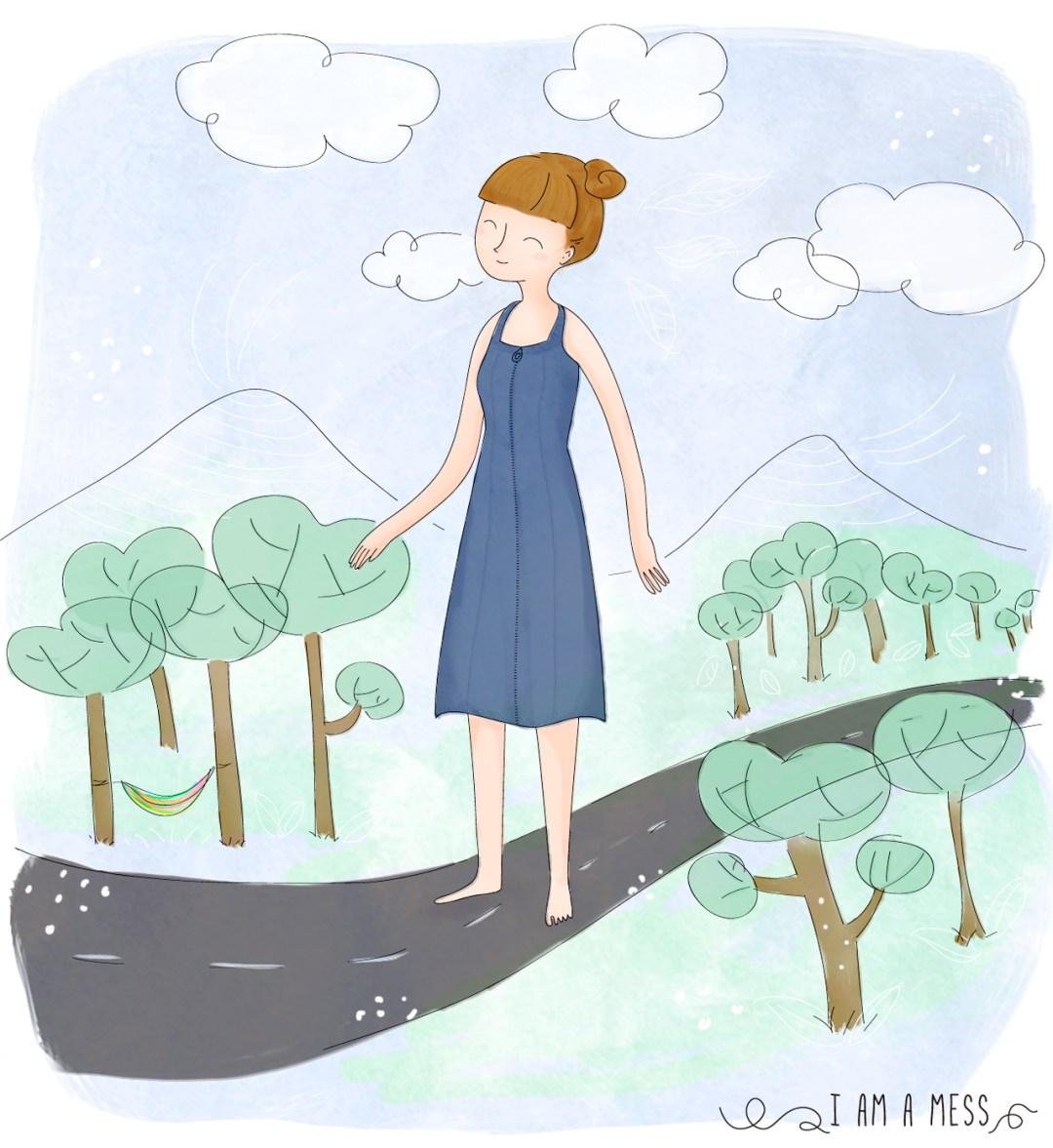 """Ilustración """"En las nubes"""", visto en IamaMess blog"""