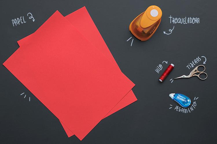 DIY guirnalda de corazones de papel, paso a paso: materiales