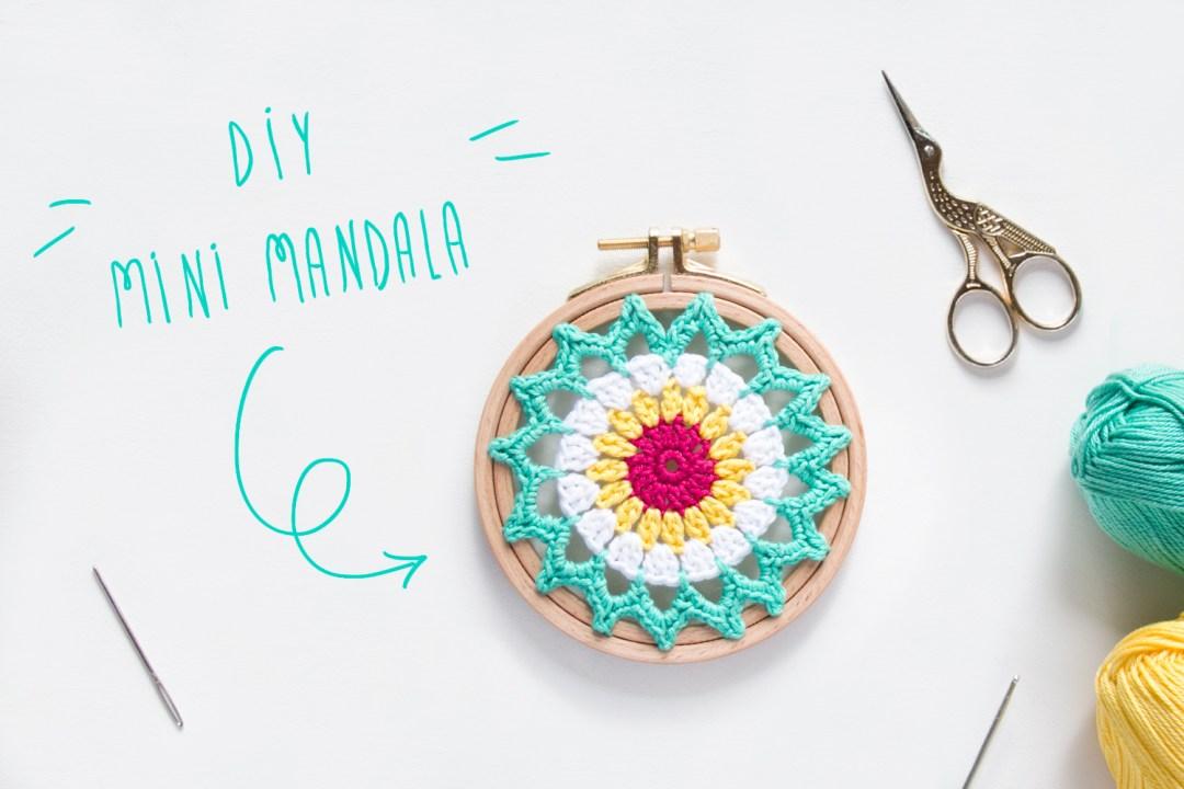 Como hacer un mini mandala de ganchillo