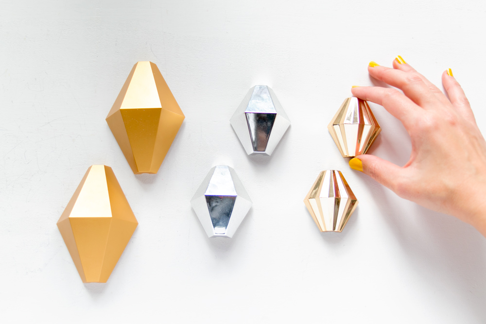 DIY Lámpara geométrica, adornos cable Ikea
