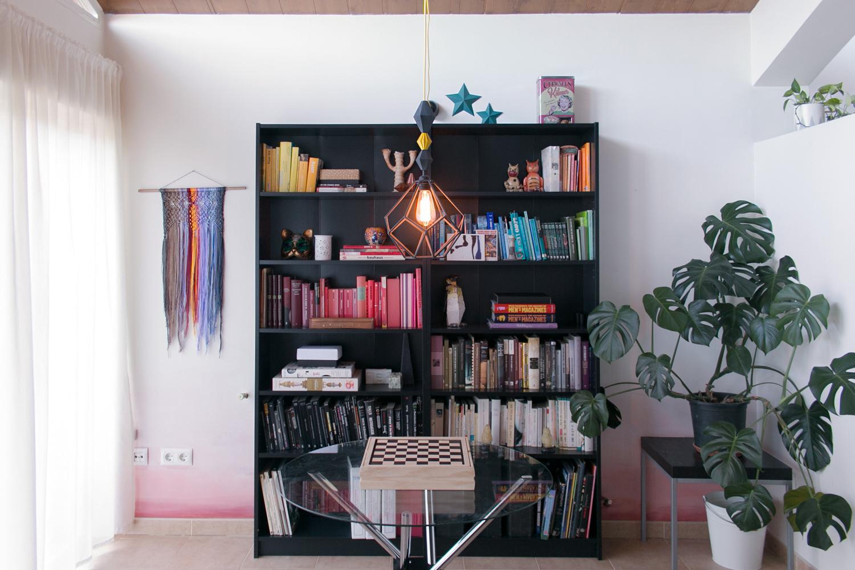 DIY Lámpara geométrica, visto en