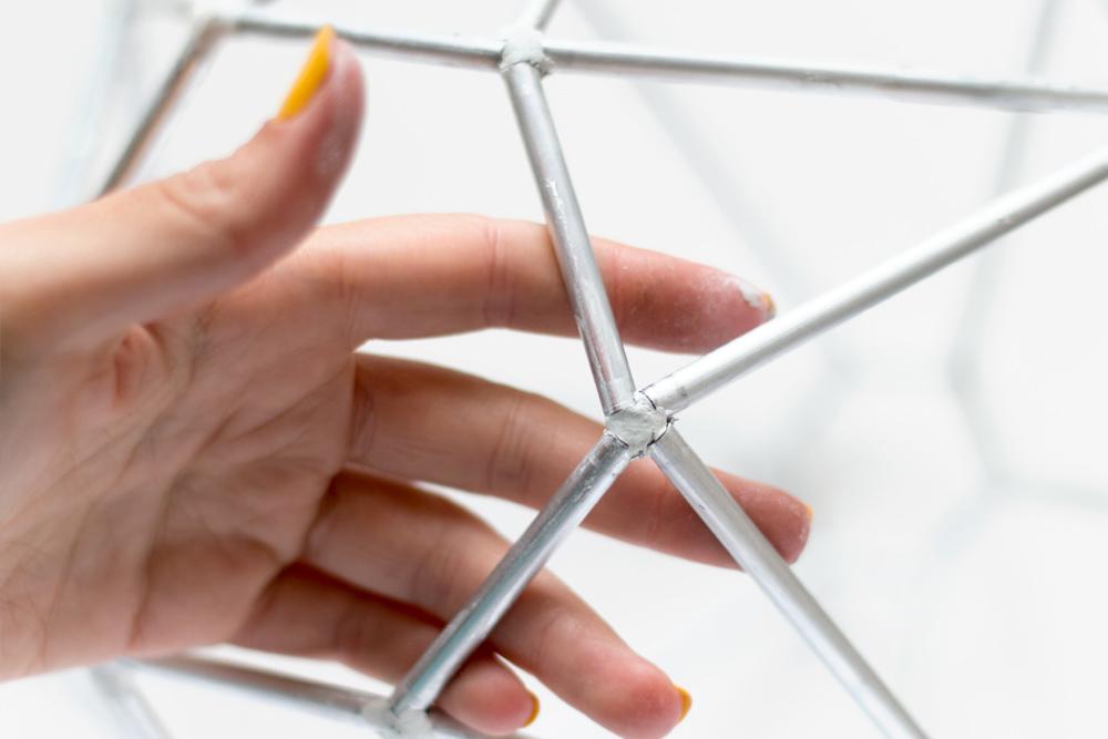 DIY Lámpara geométrica, Paso 05