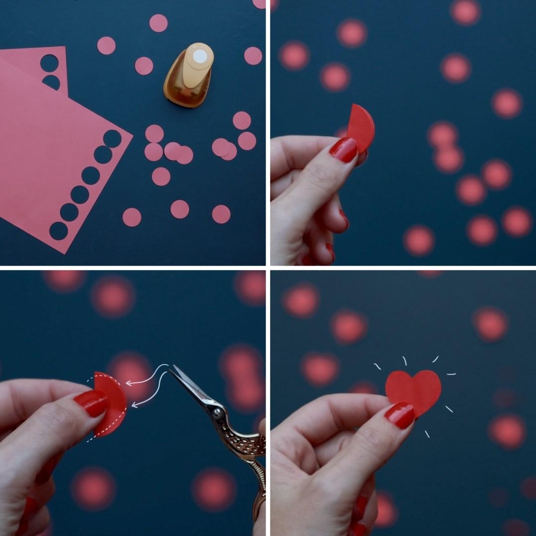 DIY guirnalda de corazones de papel: hacer los corazones