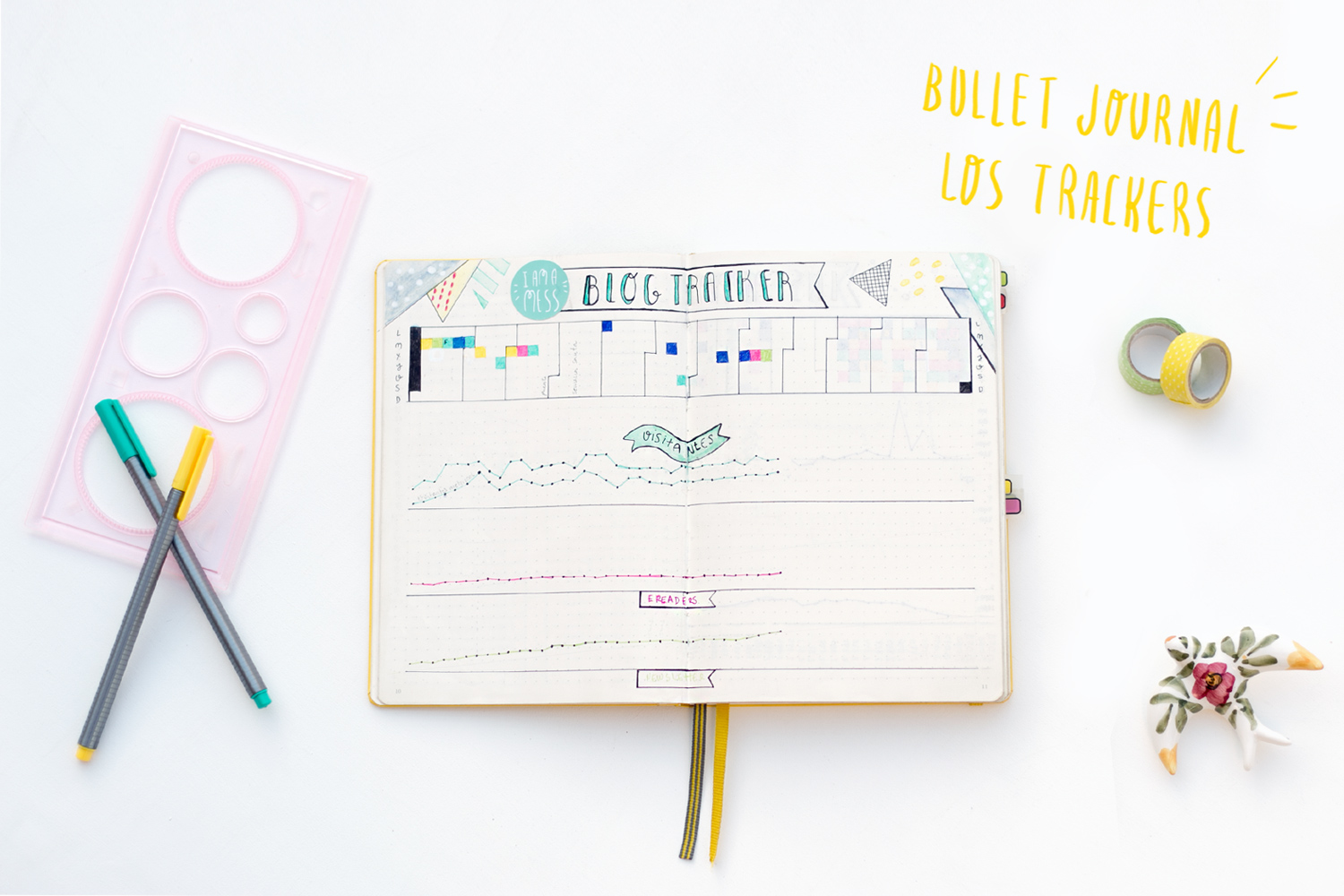 "Bullet journal: Trackers, visto en ""I am a Mess Blog"""