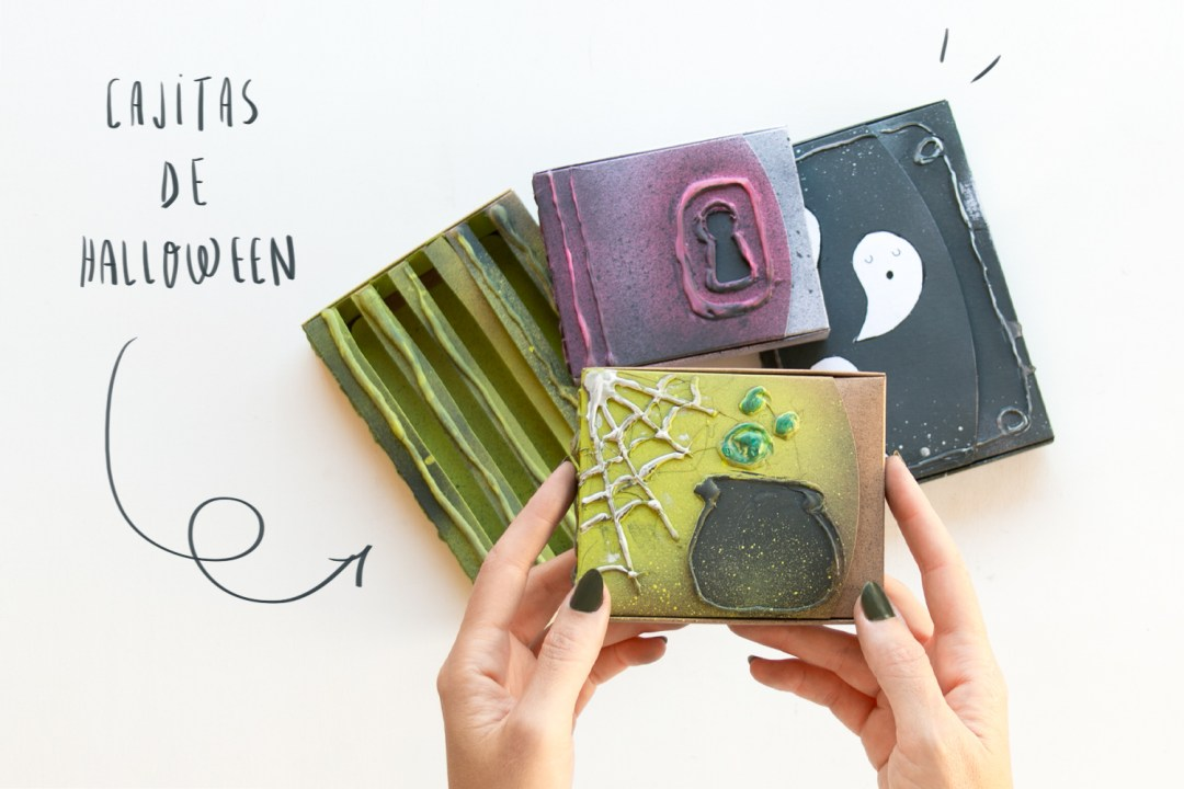 "DIY customiza tus cajas de Halloween, visto en ""I am a Mess Blog"""