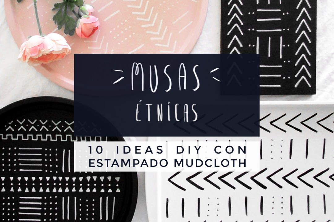 "10 ideas con patrón mudcloth DIY, visto en ""I am a Mess Blog"""